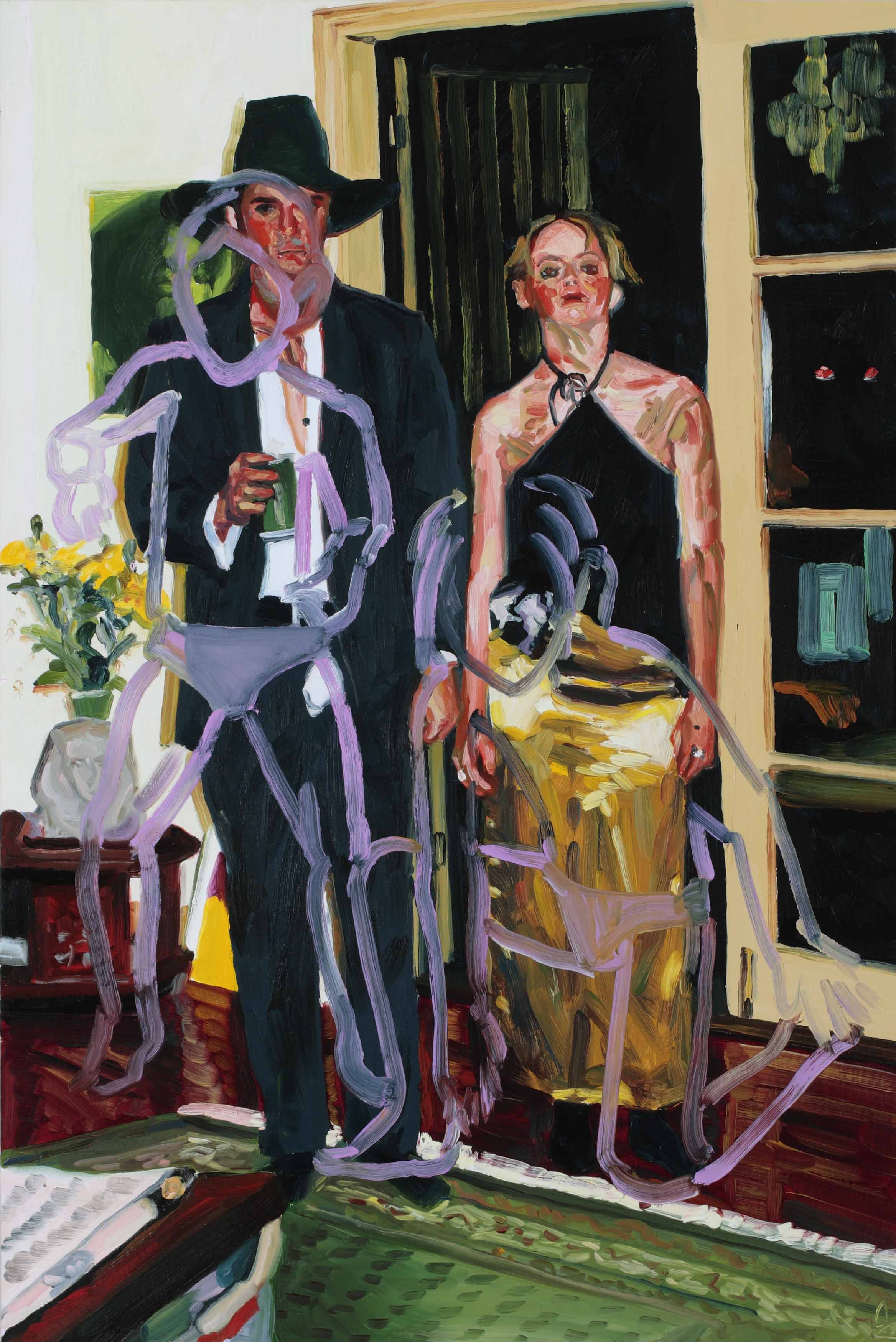 Bachelors and Spinsters, oil on board, 60 x 40 cm, 2008.