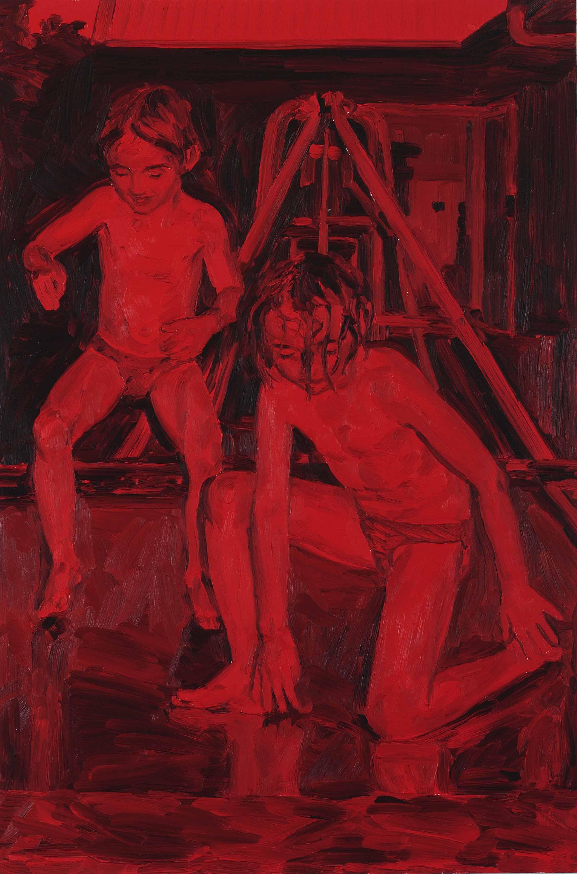untitled, oil on board, 60 x 40 cm, 2008.