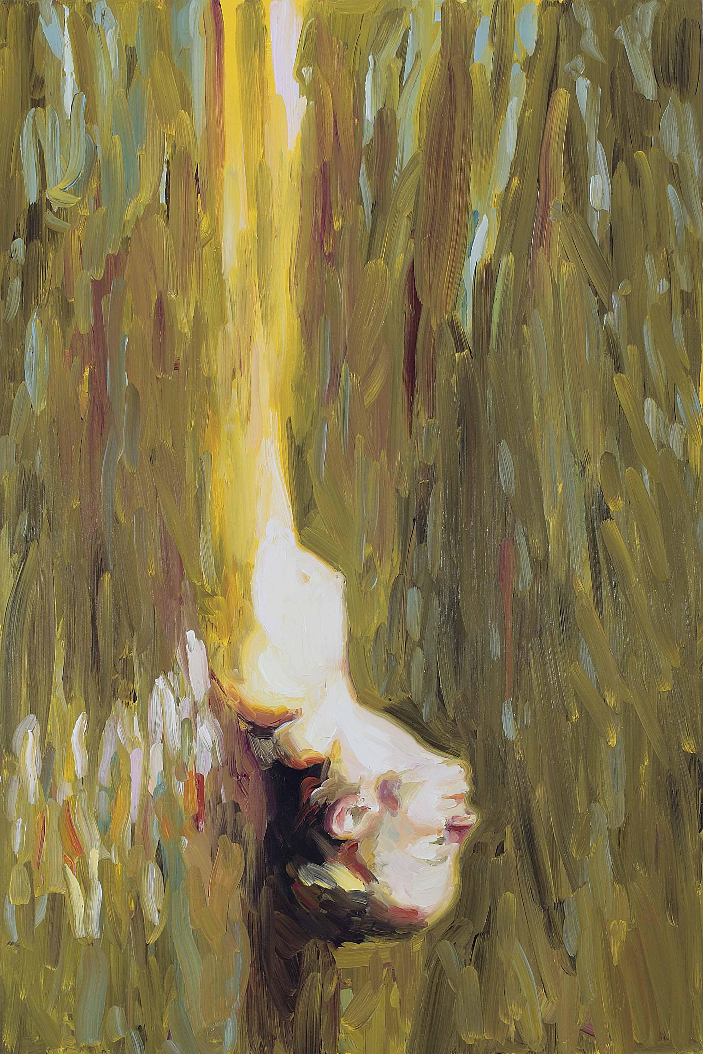 Sitting Duck (Self-Portrait), oil on board, 60 x 40 cm, 2008.