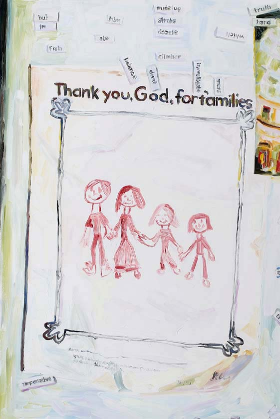 Families, oil on board, 60 x 40 cm, 2008.
