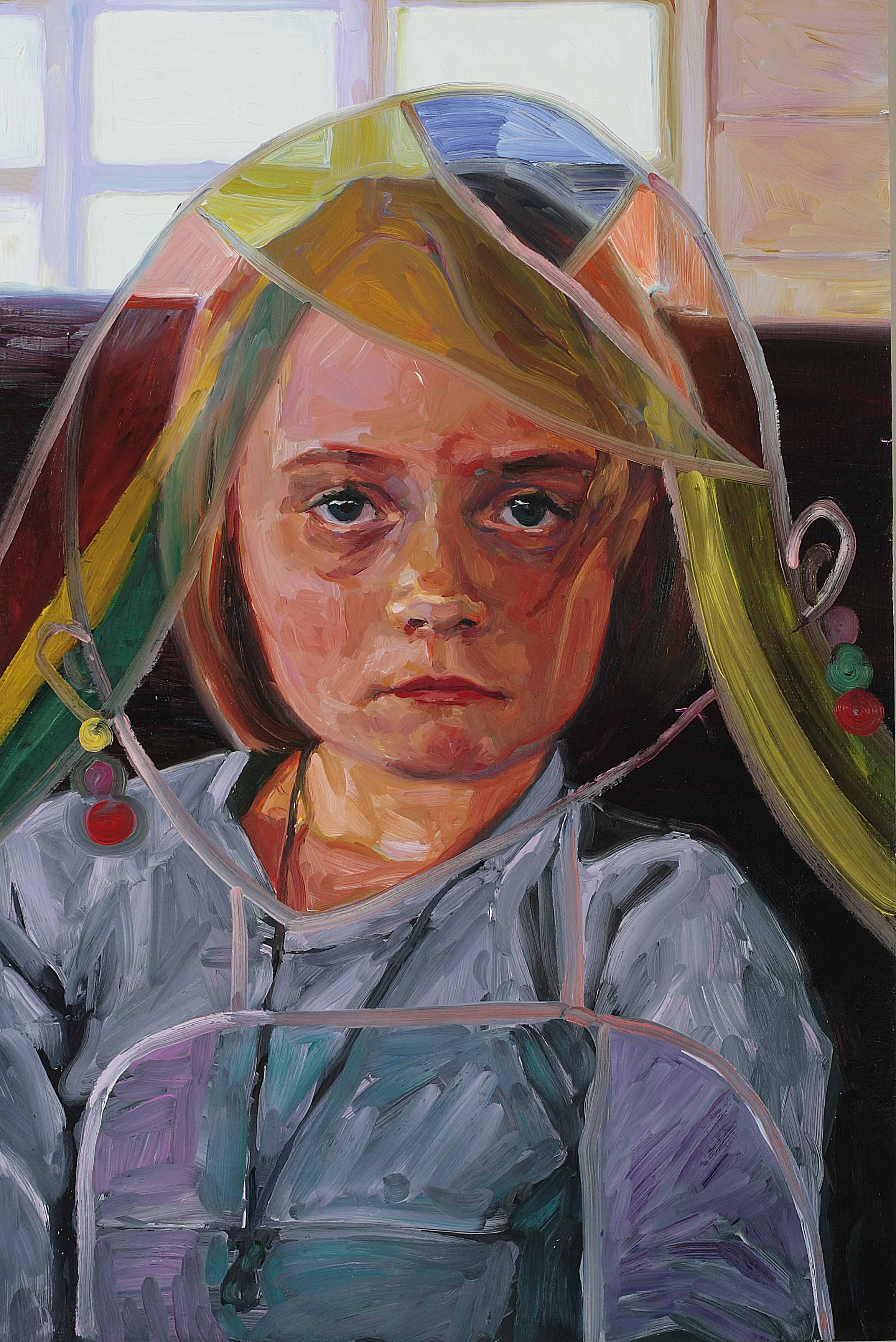 Looking at You (Penelope), oil on board, 60 x 40 cm, 2008.
