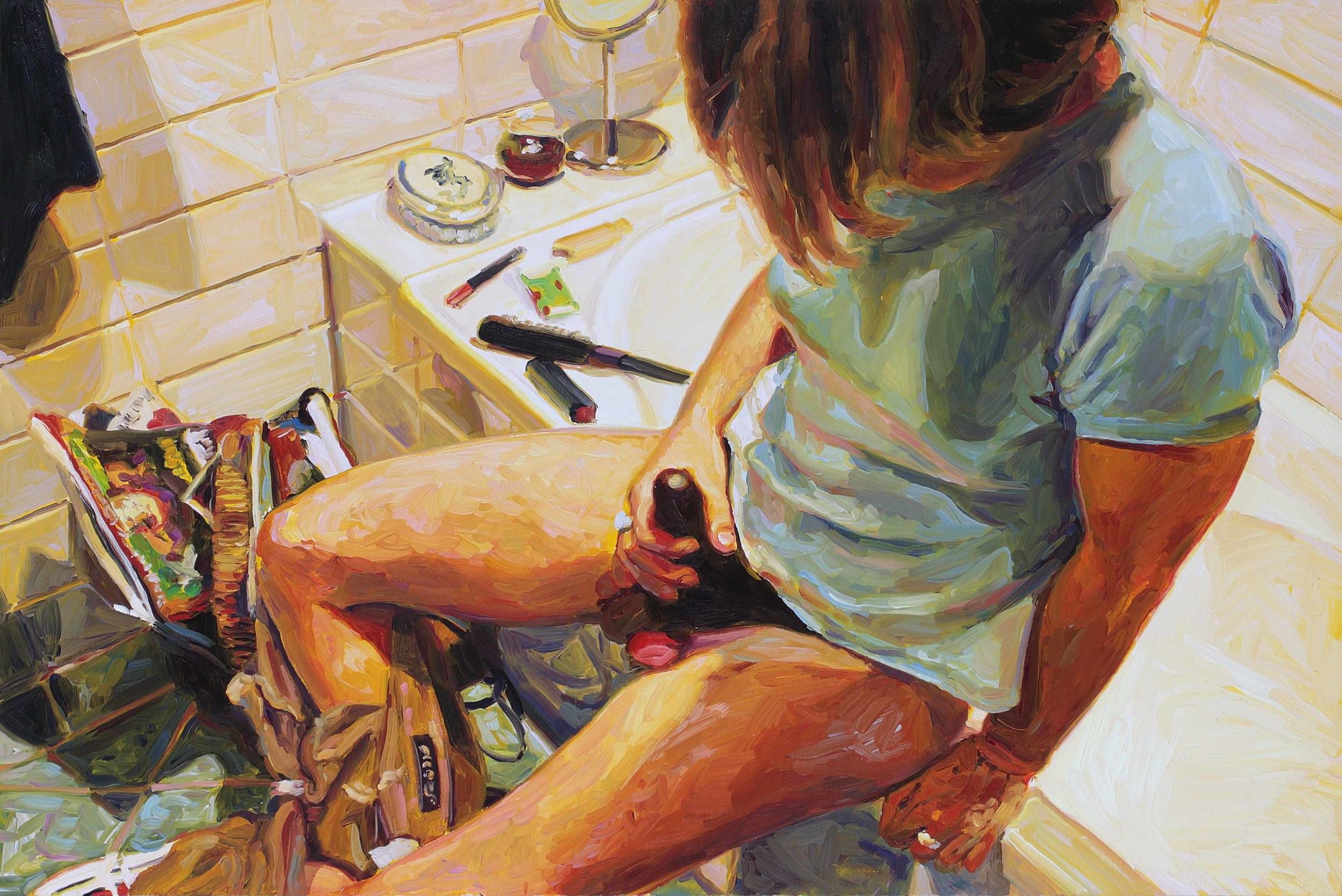 Self-sufficient Self-Portrait, oil on board, 60 x 90 cm, 2008.