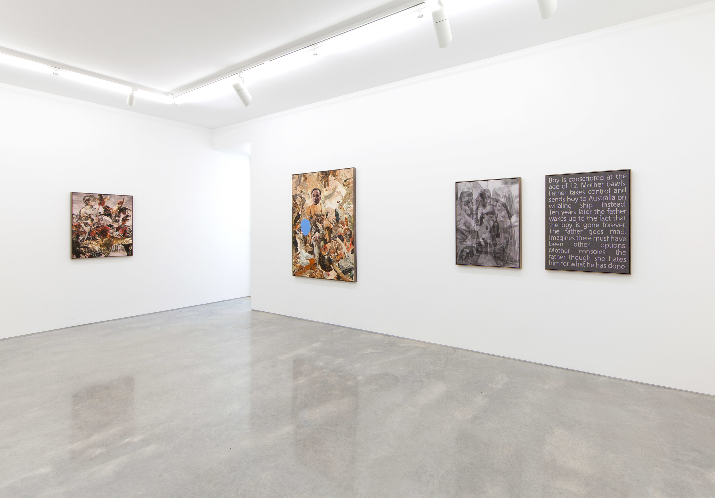 Installation view, New Paintings, Sarah Cottier Gallery, Sydney, 2014.