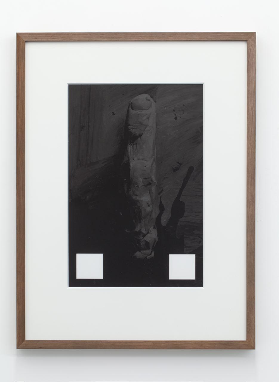 Single Minded Gesture, archival pigment ink-jet print on hahnamuele, 70 x 52cm (framed), 2013.