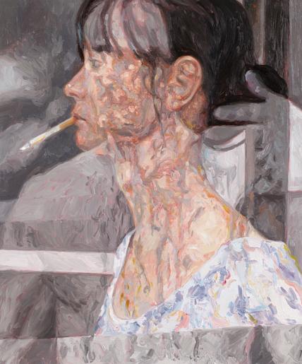 Stroke, oil on board, 60 x 50 cm, 2013.