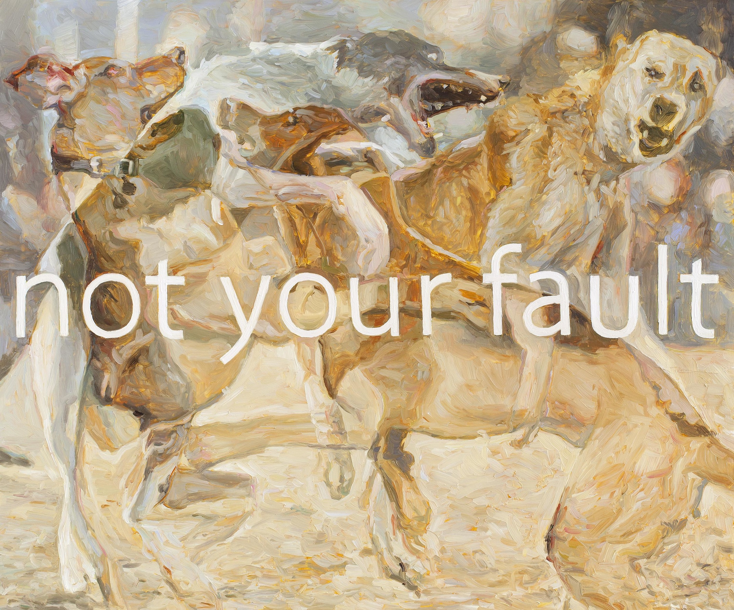 Not Your Fault, oil on board, 50 x 60 cm, 2013.
