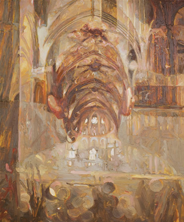 untitled (Oliver James), oil on board, 60 x 50 cm, 2013.