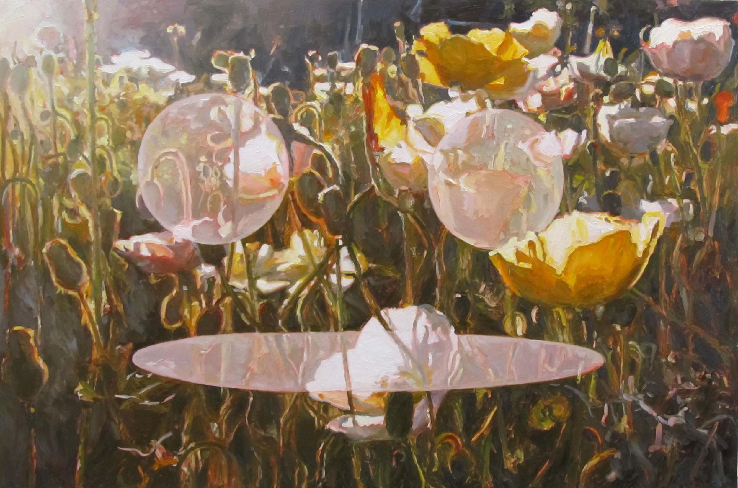 Enlightened Sunshine ... oil on board, 60 x 90 cm, 2013.