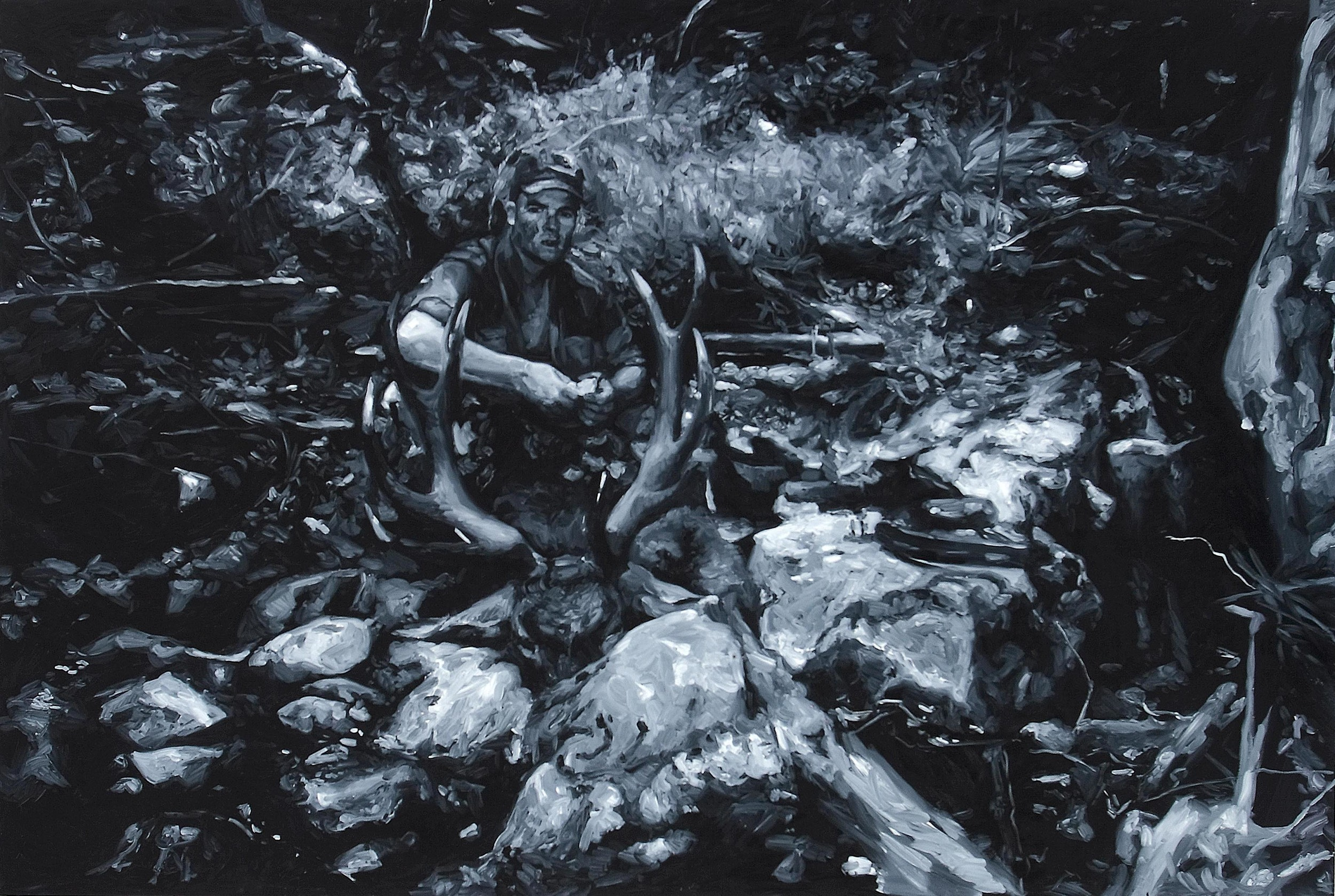 Dear Hunter (Jason), oil on board, 120 x 180 cm, 2009. Photography by Carl Warner. Private collection.