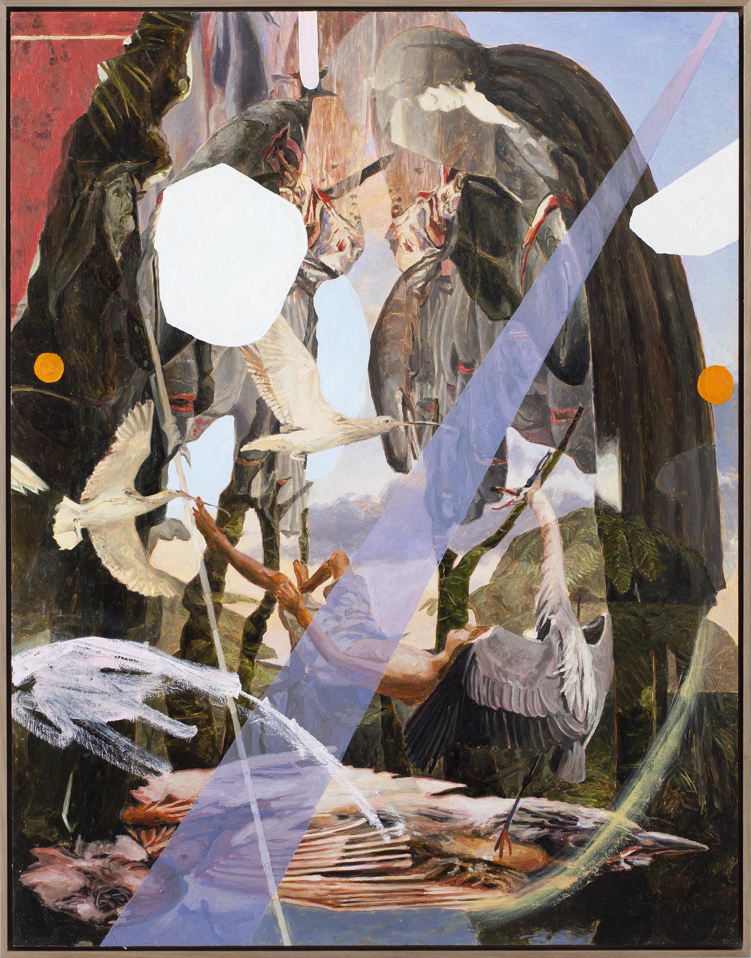 Featherbed (Antonio), oil on board 90 x 70 cm, 2015. (Private collection).