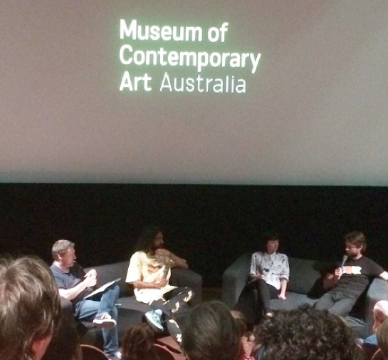 MCA panel discussion with Glenn Barkley, Ramesh Nithiyendran, Julie Fragar and Ben Quilty.
