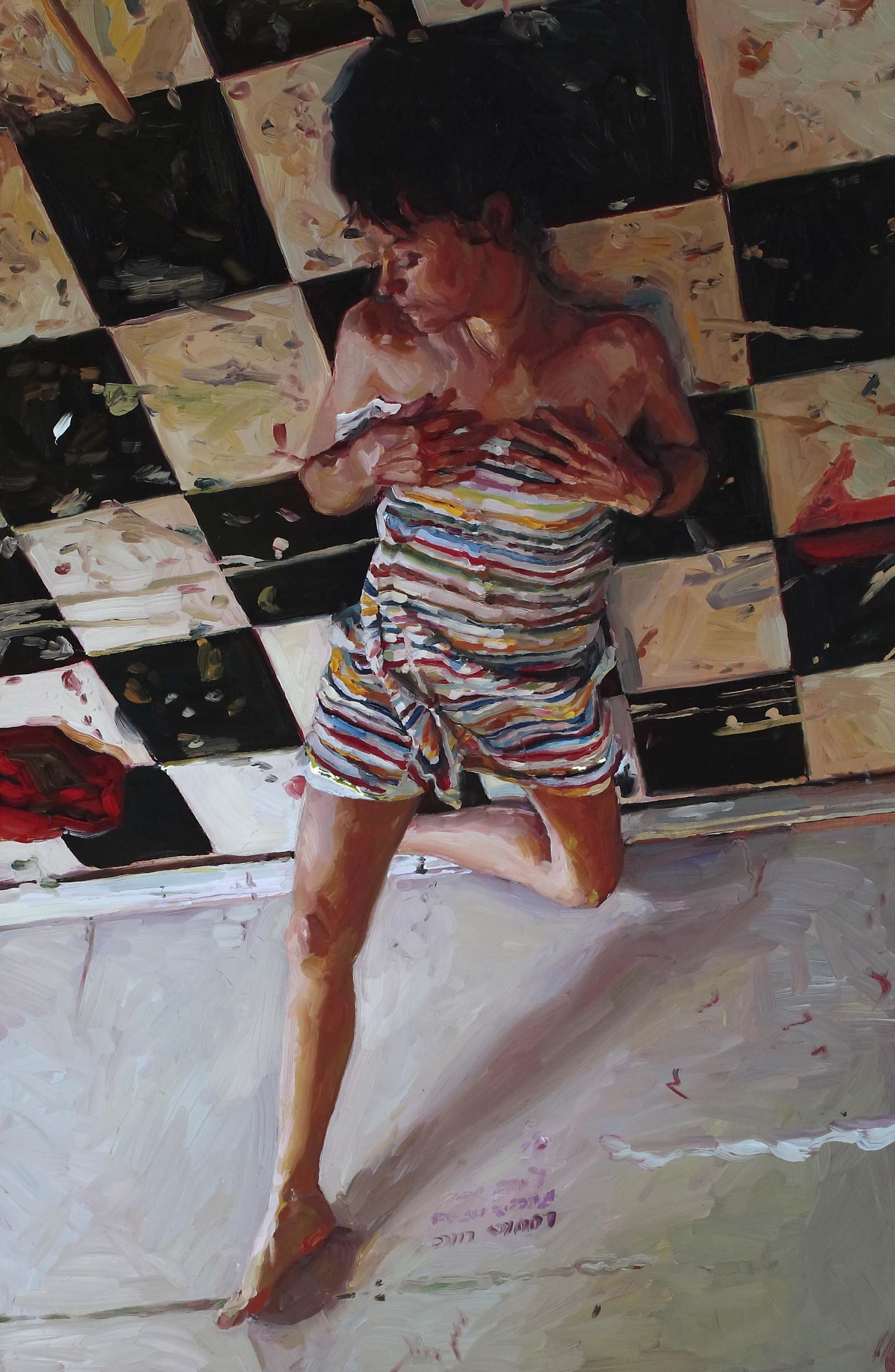 Reclining Wife, oil on board, 60 x 40 cm, 2008.