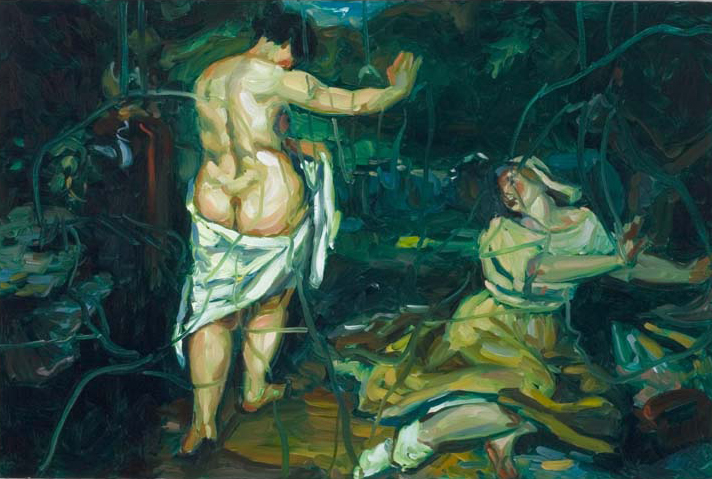 Refusal (after Courbet), oil on board 35 x 50 cm, 2006.