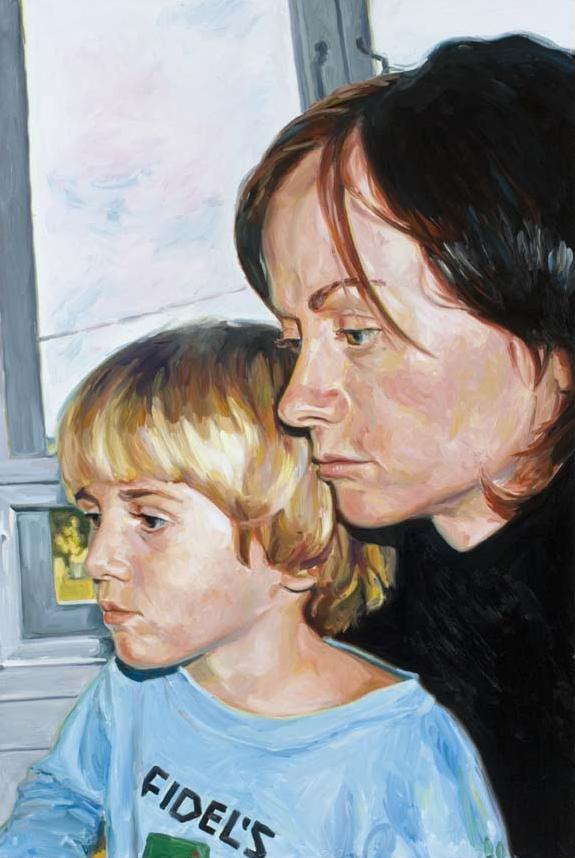 Fidels #1, oil on board 90 x 60 cm, 2005.