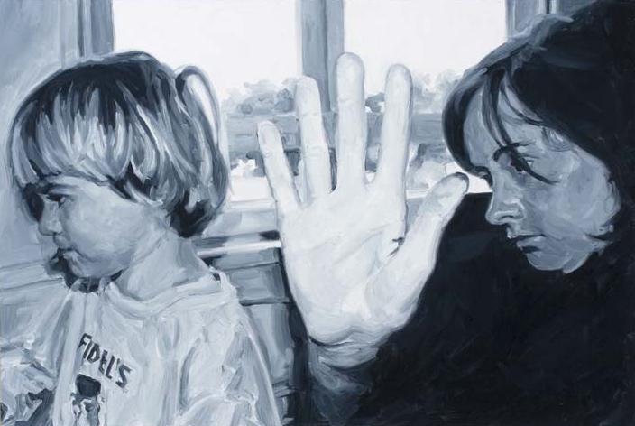 Fidels #2, oil on board, 35 x 50 cm, 2005.