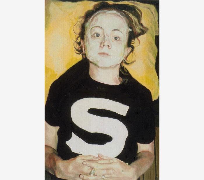 S, oil on board, 90 x 60 cm, 2003.