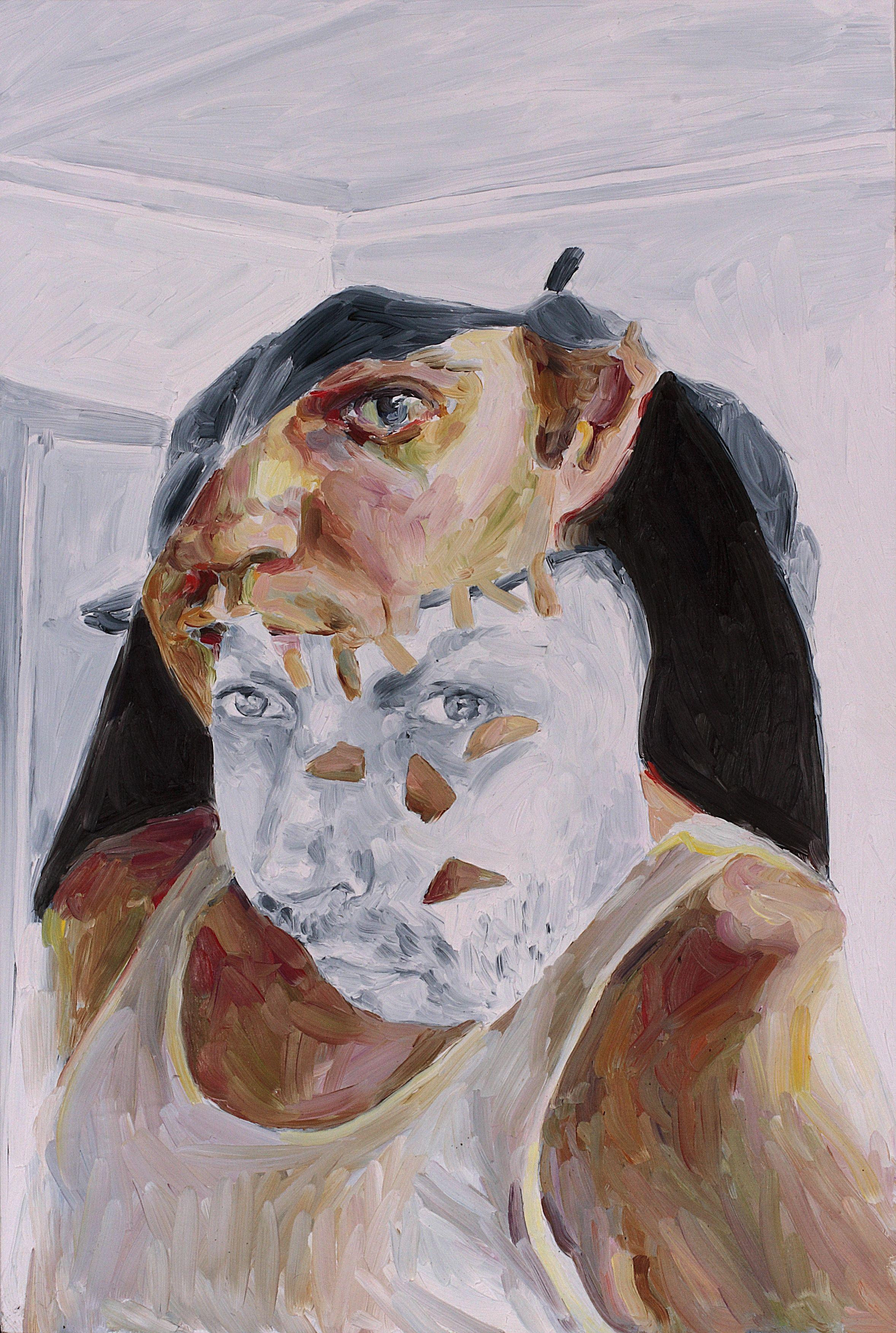 Nicholas Chambers and David M Thomas, oil on board, 60 x 40 cm, 2008.