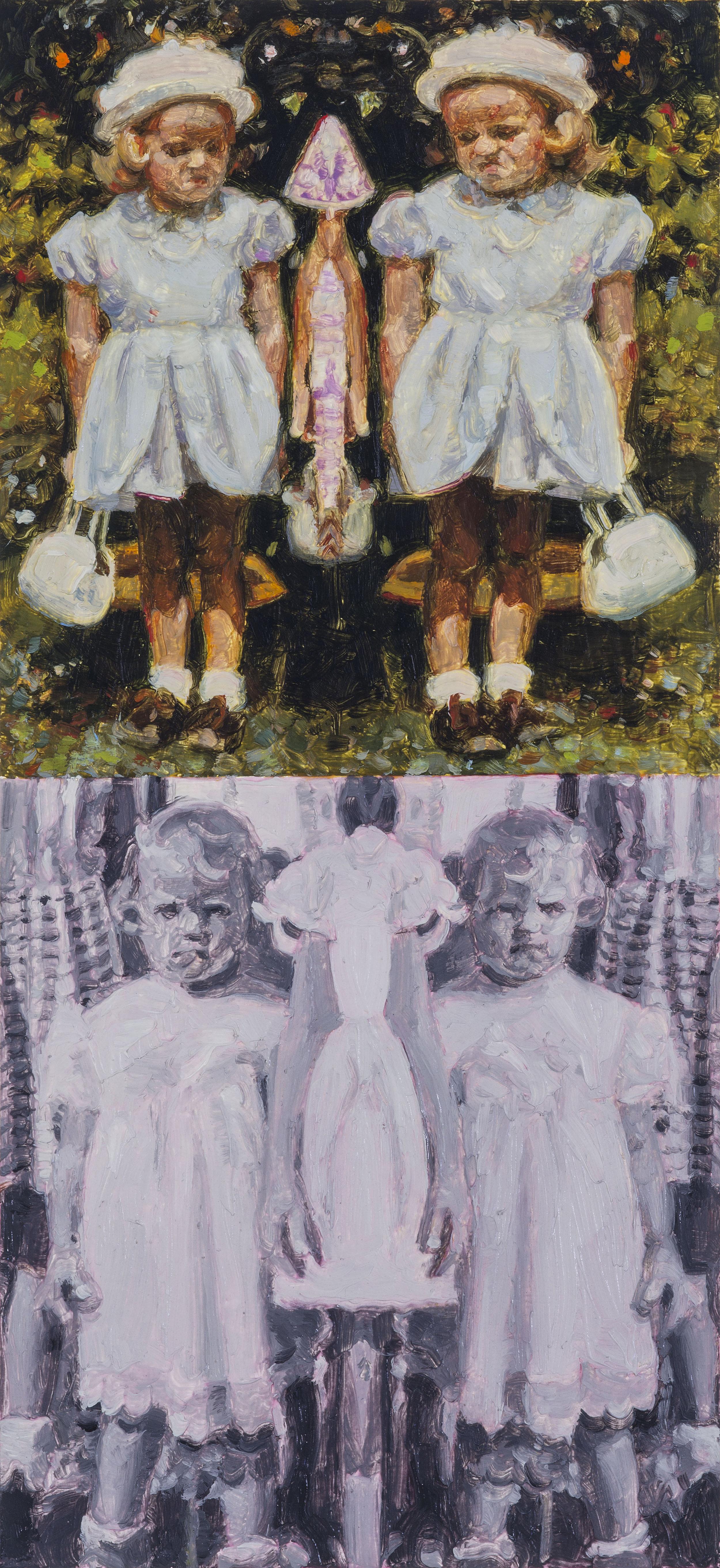 HSP Response (Susan Frances Skelton) (detail), oil on paper, 50 x 38 cm, (image 18 x 8 cm), 2016. (Private Collection).