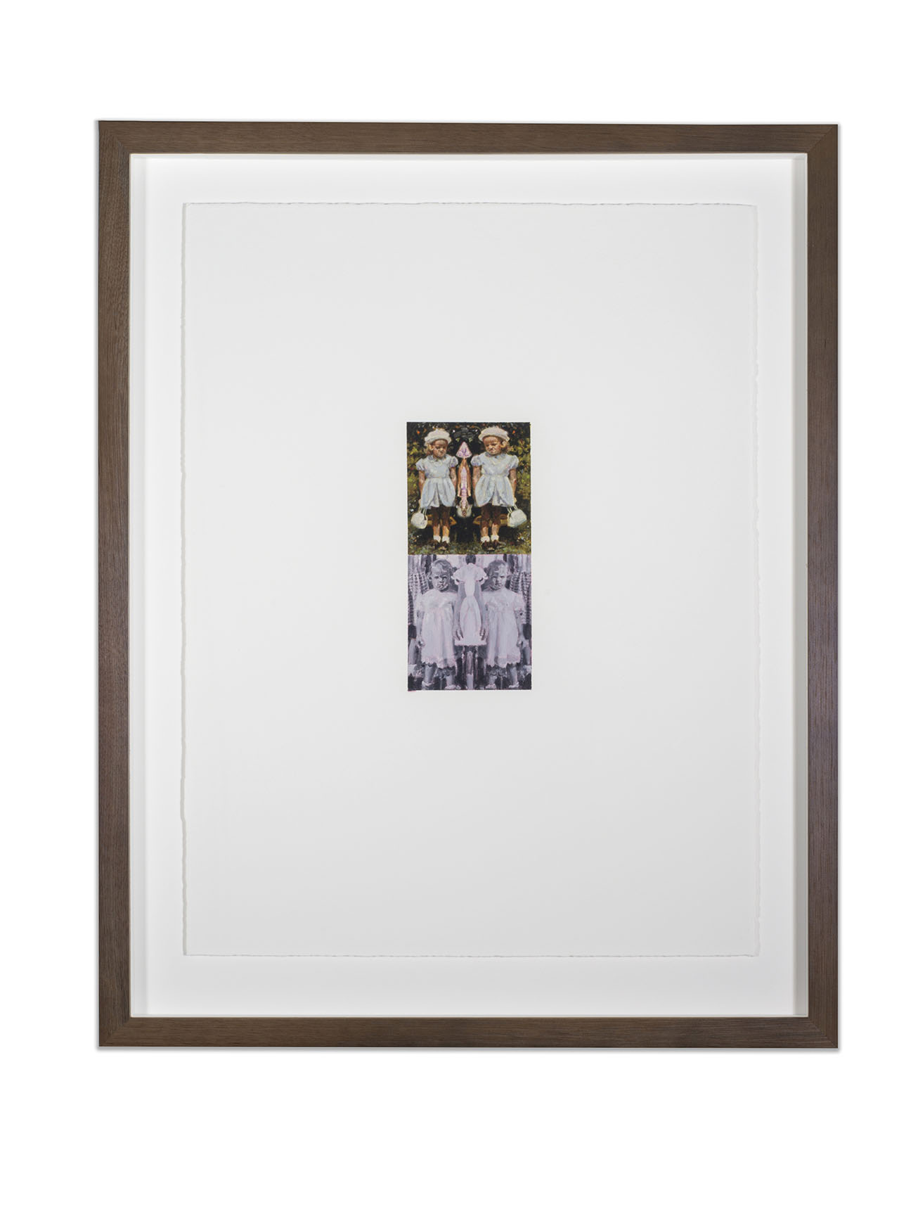 Copy of HSP Response (Susan Frances Skelton), oil on paper, 50 x 38 cm, (image 18 x 8 cm), 2016. (Private Collection).