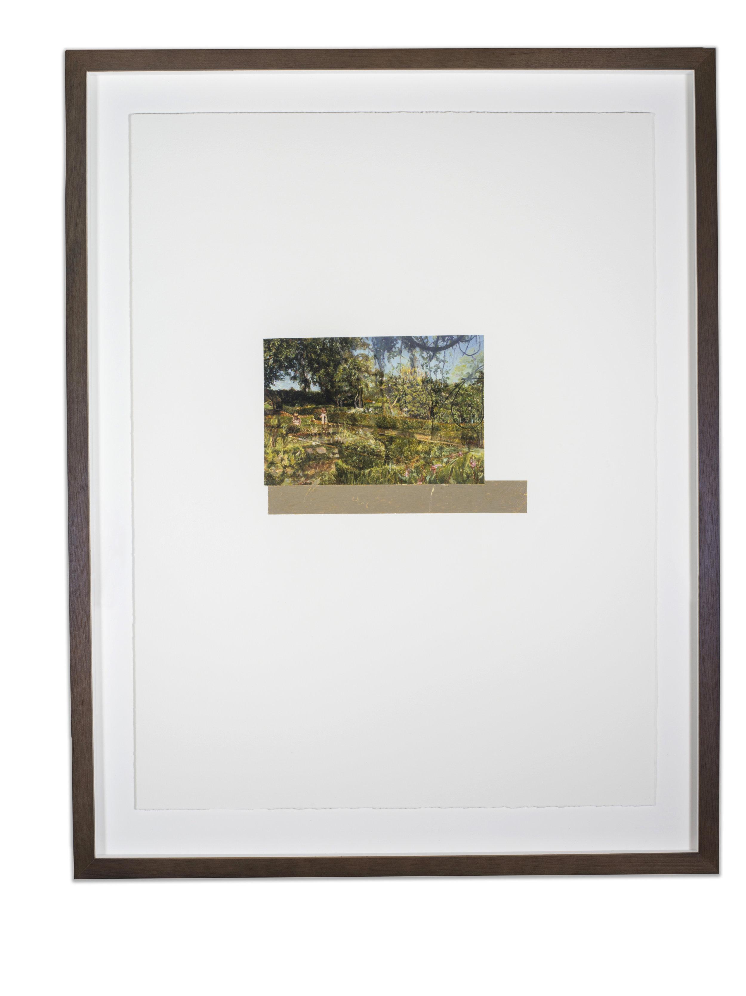 Built Environment #2, oil on paper, 67 x 50 cm (image 17 x 25 cm), 2016. (Collection Queensland University of Technology Art Museum).