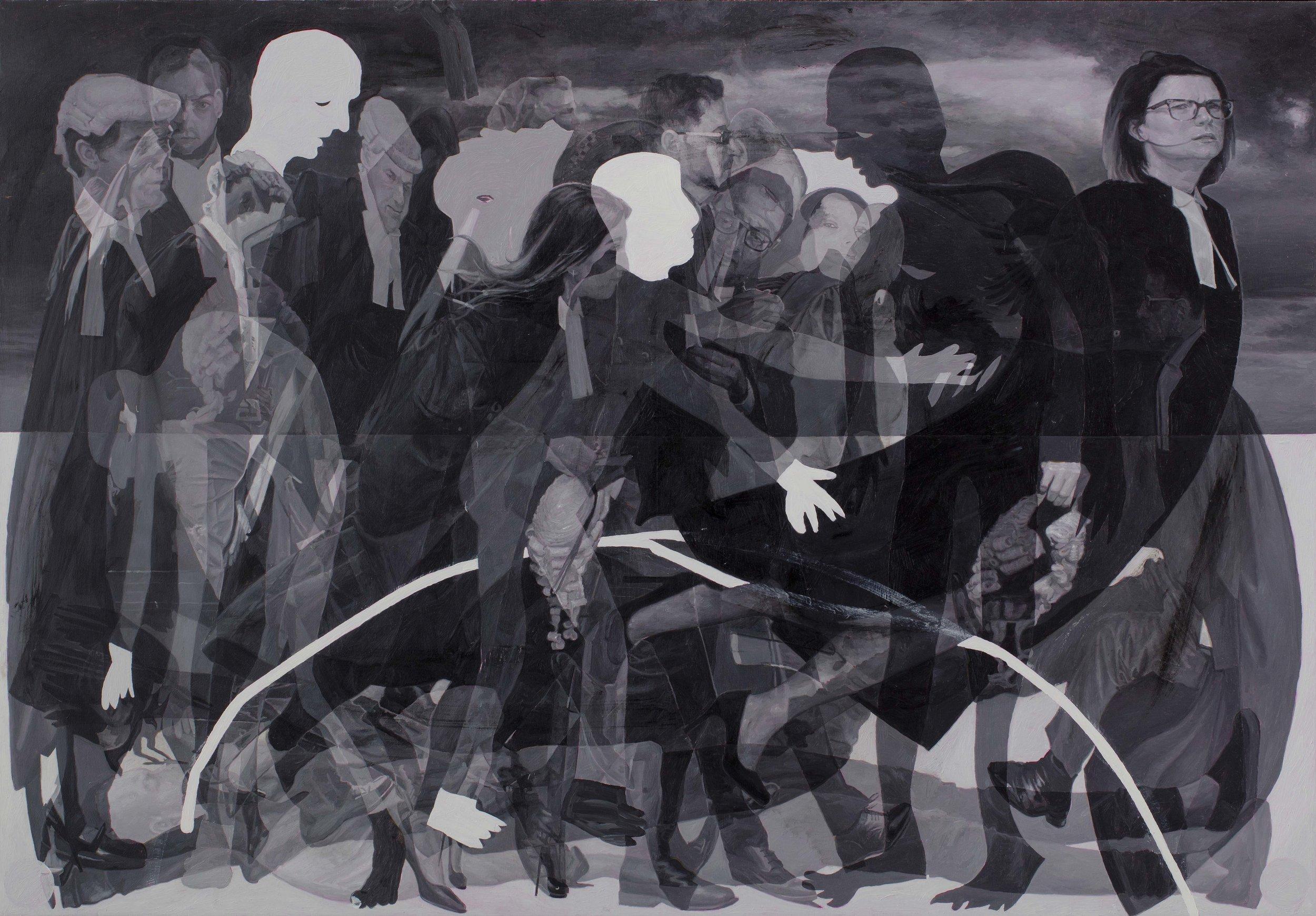 The Figureheads , oil on board, 144 x 206cm, 2018.