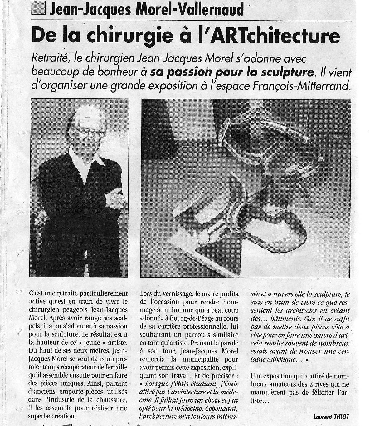De la Chirurgie à l'ARTchitecture ,  L'Impartial , 04. Dec. 2014