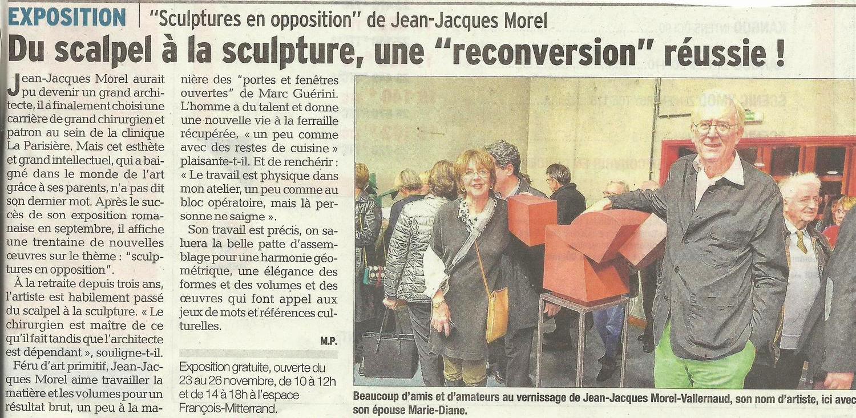 Du scalpel à la sculpture .  Le Dauphiné Libéré , 23. Nov. 2014