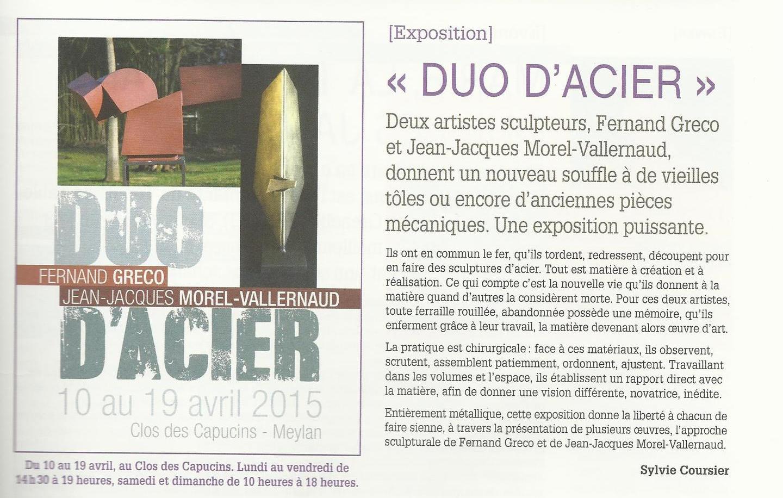 Duo d'Acier ,  Meylan Culture , 18 avril 2015