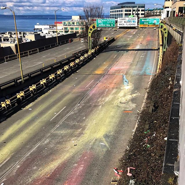 The old abandoned highway . . . . #townsendpics #visitseattle #tourist_pic #pictureoftheday #abandonedplaces #colorrun #findthebeauty