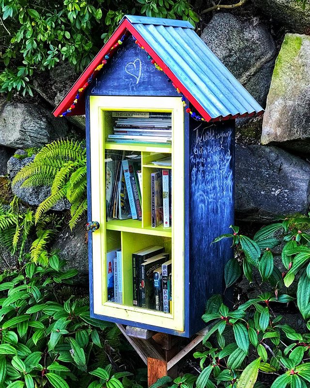 A little house for books . . . . #neighborhoodlibrary #taketimetoread #bookstagram #bookcommunity #townsendpics #readabook #picoftheday #seattle #madrona #neighborhoodphotography