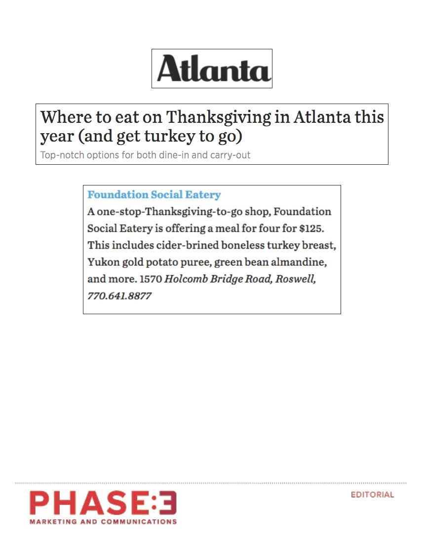 Atlanta Magazine - November 2016