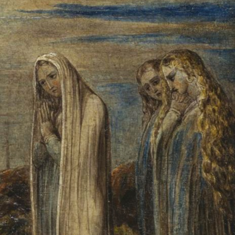 Detail from  The Body of Christ Borne to the Tomb  by William Blake (c. 1799–1800)
