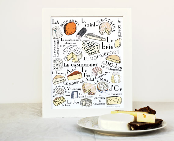 Kitchen Art French Cheeses by  GeraldineAdams