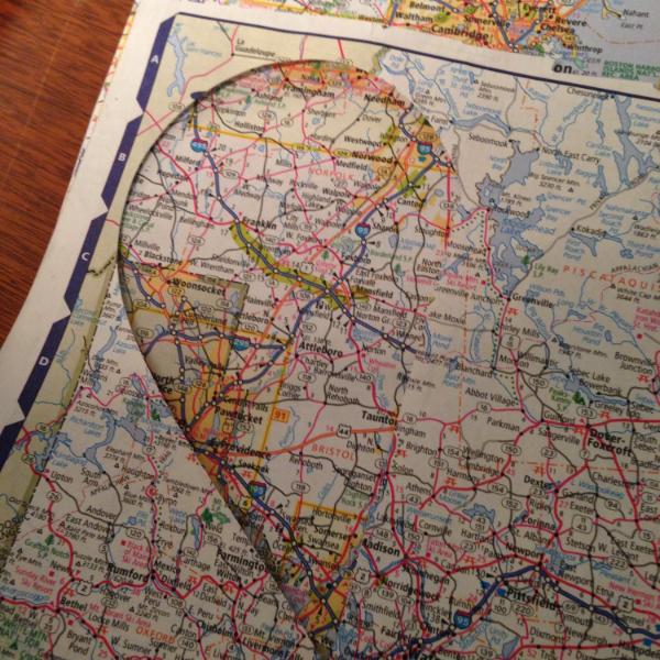 map-heart-template