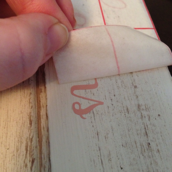 peeling off transfer tape