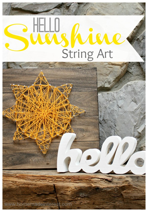 Hello Sunshine String Art
