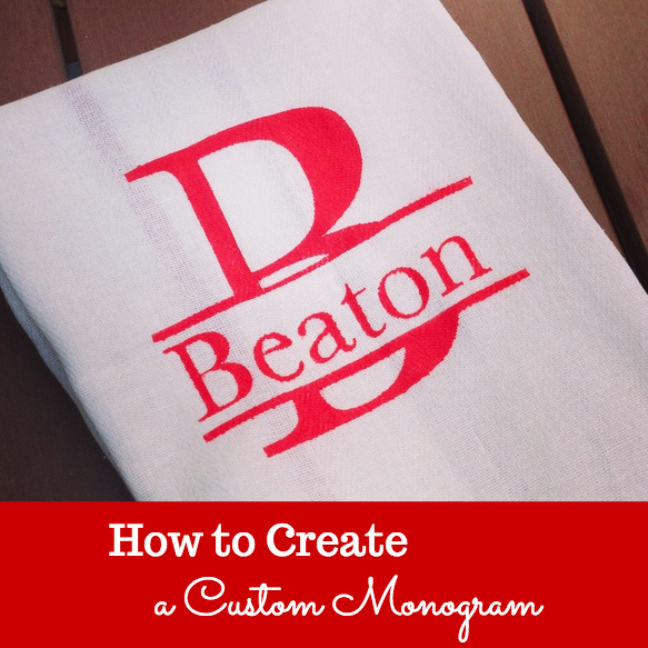 Weekend Craft How to Create a Custom Monogram