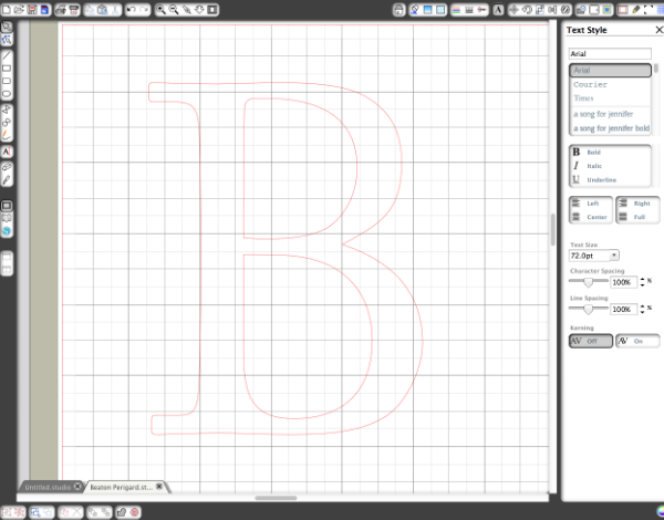 Custom Monogram Step 1
