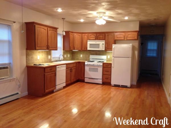 kitchen empty house tour