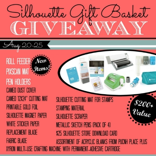 Silhouette Gift Basket Giveaway prize pack basket with date.jpg