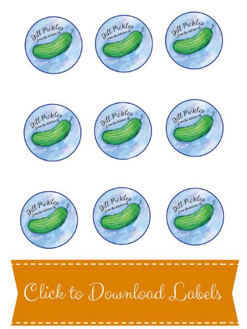 Printable Mason Jar Pickle Labels