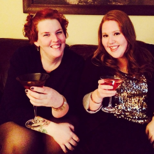 Ellie and Michelle on New Year's Eve