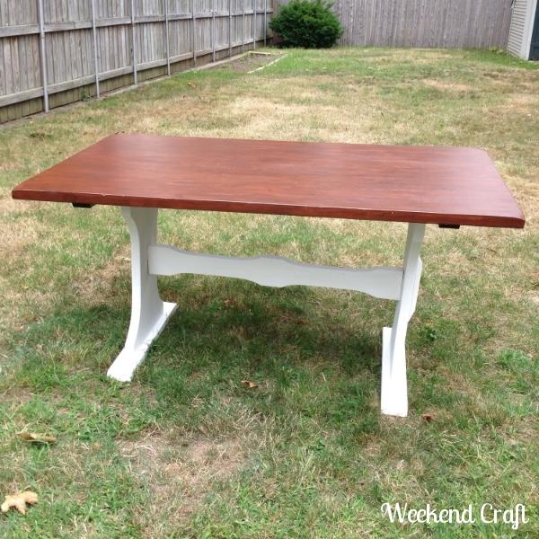 After DIY Farmhouse Table
