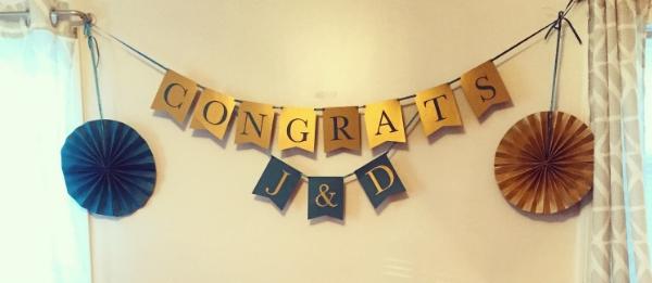 DIY Engagement Banner