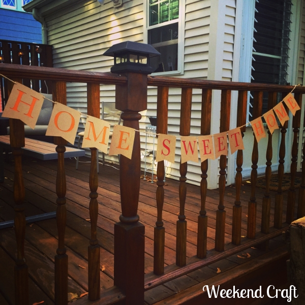 Home Sweet Home bunting banner