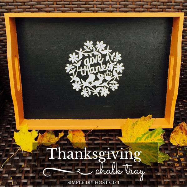 DIY Thanksgiving Chalkboard Tray