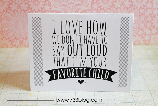 Snarky (in a fun way) Mother's Day Cards