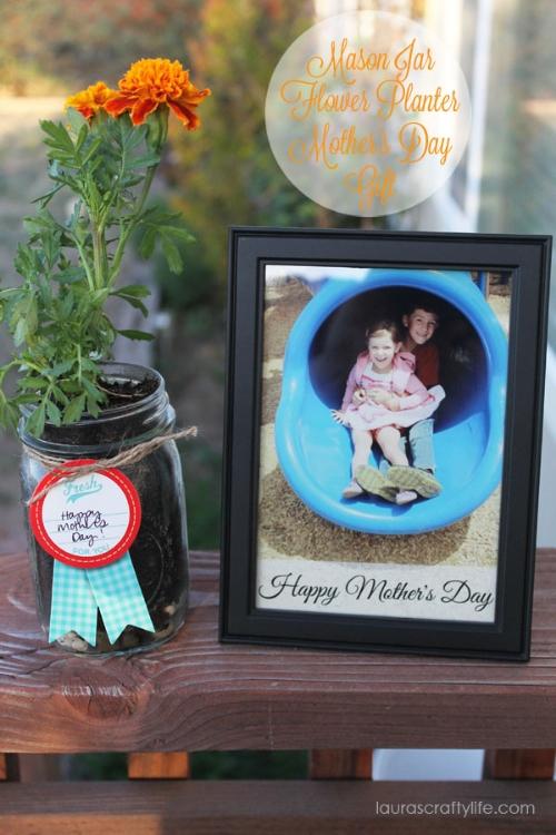 Mother's Day Mason Jar Planters