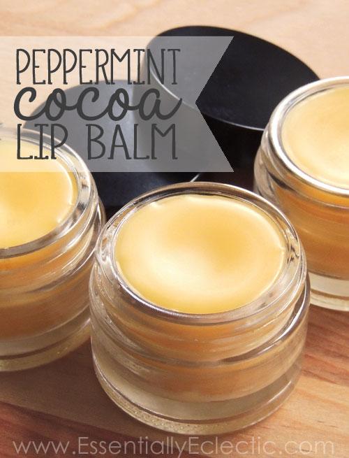 peppermint cocoa lip balm