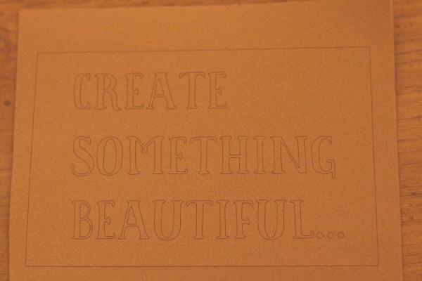 Create Something Beautiful Vinyl